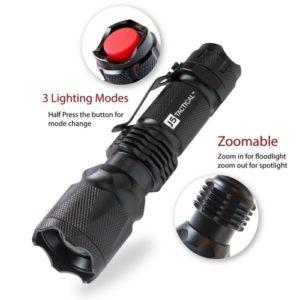 J5 Tactical Flashligh - Non Lethal Self Defense Weapon