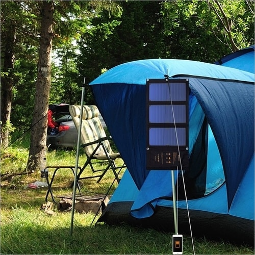 Best Essential Camping Gear List - Waterproof Solar Charger