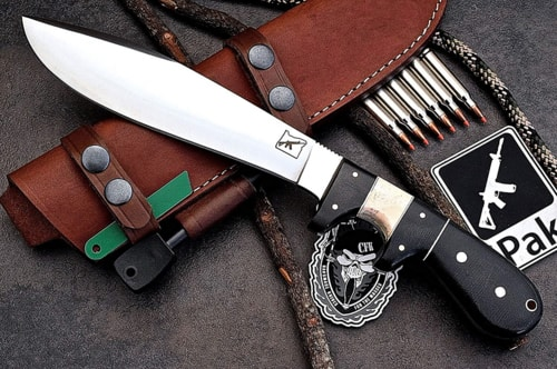 Best Hunting Knife - Elite Trail Boss Custom Handmade D2 Large Skinning Hunter Knife 1