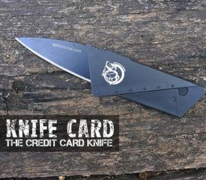 Free Survival Gear - Knife Card From Ape Survival