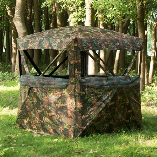 Survival Hunting Traps - Vulture Pop-up Portable 3 Person Ground Hunting Blind