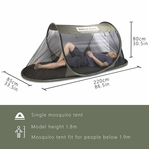 8 Overlooked Bug Out Bag Items - Instant Pop Up Mosquito Net Automatic Self-expanding Tent